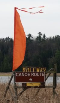 Follow this route to return Ausable River canoe rental crafts to Rolloway Resort.