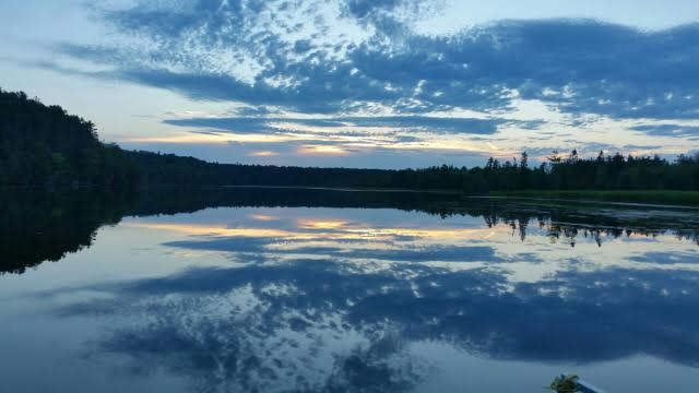 Sunset on the Au Sable River