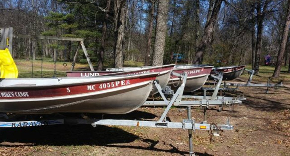 Rifle River Rec Area Lakes Fishing Boats for Rent