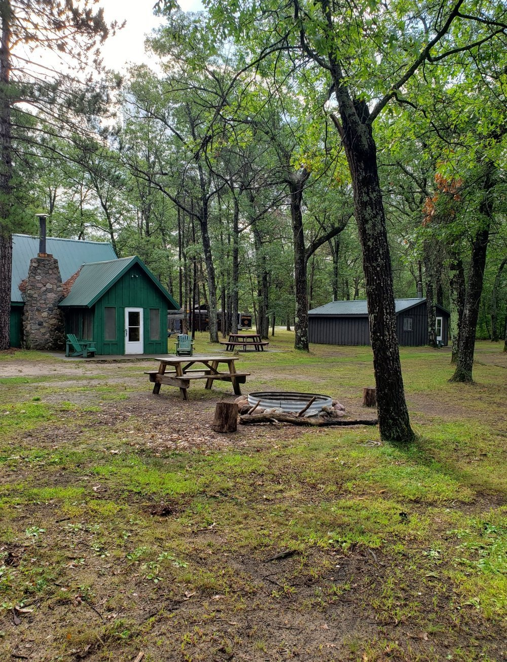 Our large and small Au Sable River Resort Cabins at Rollway Resort in Hale, MI.