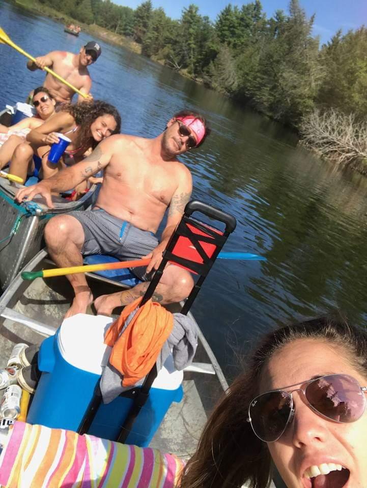 Chillin' with Friends: Au Sable Canoe Rentals, Hale MI